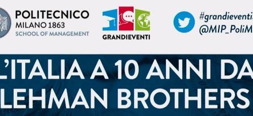 L'Italia a 10 anni da Lehman Brothers